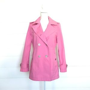 Vintage Tommy Hilfiger Pink Military Trench Coat